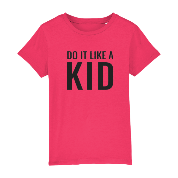 Do It Like a Kid T-Shirt (Dark Grey Logo/various colours)