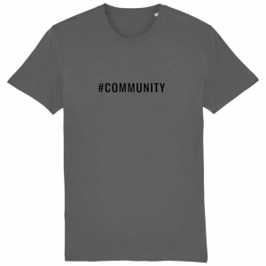 COMMUNITY Unisex T-Shirt – Black Logo