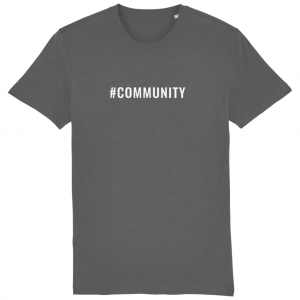 COMMUNITY Unisex T-Shirt – White Logo
