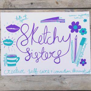 Sketchy Sisters Mums & Kids Creative Self Care Workshop